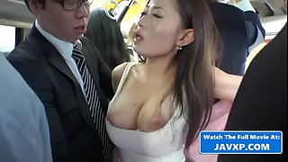 Asian milf on the bus