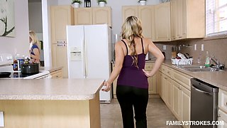 Appetizing curvy maid Anastasia Knight is so into steamy MFF threesome