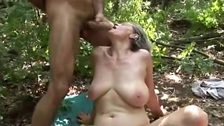 Aliz anal hairy mature woods forest