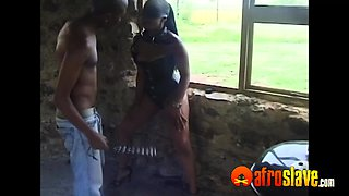 African dom takes his sub sex slave for a ride