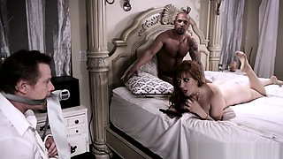 Cheating Wife Sucks Bbc While Husbands Tiedup