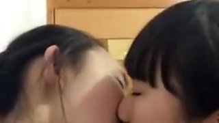 Chinese girls kissing