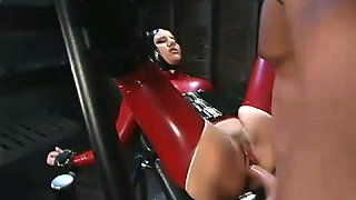 Latex porn model Ramona get sher muff licked by Joey Ray