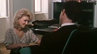 Hot blonde secretary gives head to her handsome boss