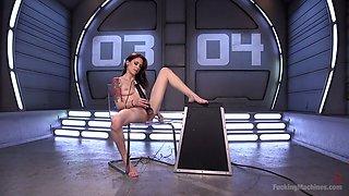 Crazy anal-insane slut Anna De Ville is testing a new sex machine
