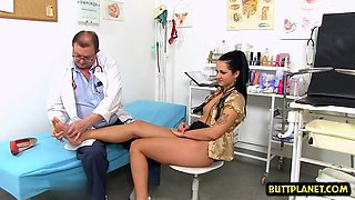 brunette doctor gaping and cumshot clip clip 1
