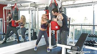 FuckingAwesome -Kayla Kayden bangs her personal trainer