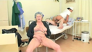 horny Grandpapa is fucked by incredible hot sexy nurse
