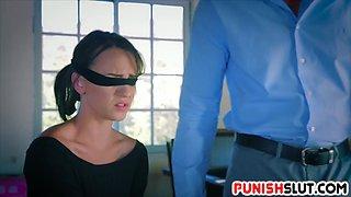 Bad slut Alex Moore gets the punishment she deserves