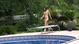 Naked Pool Girl
