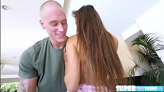 Innocent latina Zaya Cassidy takes in dudes cock and gets banged hard