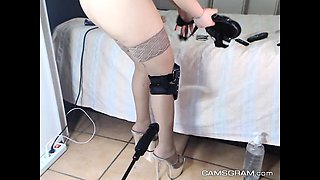 Attractive Amateur Blonde Got Fucked By Her Fucking Machine