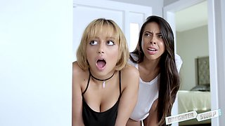 Marilyn Mansion and Victoria Vargaz enjoy men's massive boners