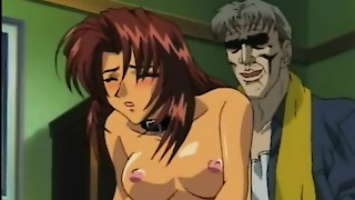 Sexy anime babes licked and fucked in gangbang