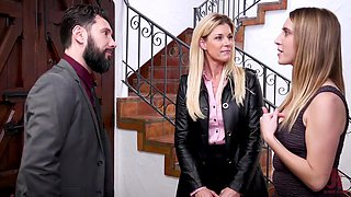 Mature blonde India Summer abused by her husband and Cadence Lux