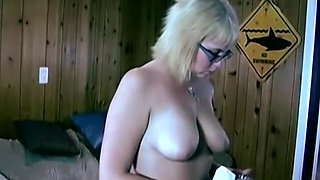 Chubby blonde sucks and fucks her boyfriend
