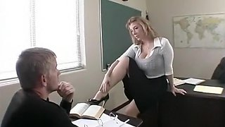 Swedish Celeb Sarah Dawn Finer Doing Porn, As A Teacher Fucked By Student!