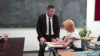 alluring schoolgirl babe banged by teacher