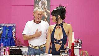 Fabulous pornstar Jordan Kingsley in exotic fishnet, tattoos porn clip