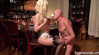 Sarah Dark in Skinny German Mistress pleasures grandpa - FunMovies