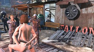 Fallout 4 public gangbang at Diamond City