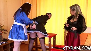 Hot maid gets ass spanked