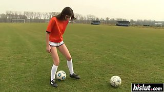 soccer slut loves to masturbate passionately