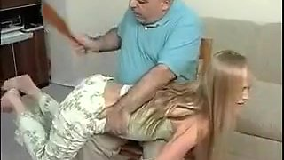 Best amateur Blonde, Spanking porn video