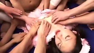 Fabulous Japanese chick Rei Matsushima in Exotic Babysitters, Fingering JAV clip