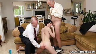 Daddy cum swallow first time She even gets booty poked until the dudes give her face some