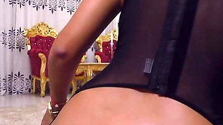 Big round ass butt fat shaved chubby cameltoe pussy doggy