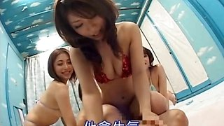 Gangbang with asians riding cock