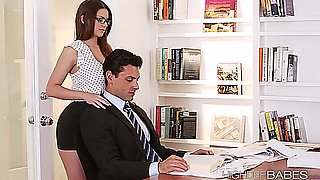 Sexy Secretary Brooklyn Seduces Her Boss And Gets Fucked In The Table