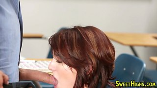 Teenager spunk mouthed