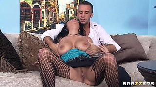 anissa kate spreads her legs wide and lets him rub and suck her clit