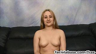 Innocent looking slut Lainna gets ass & throat fucked hard