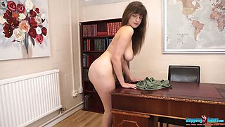 Nude show performed by really giant breasted lady called Kate Anne
