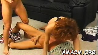 Gorgeous beauty adores playing with her clit