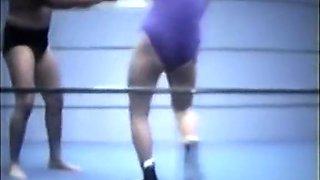 Mixed ring Wrestling. Vintage 1