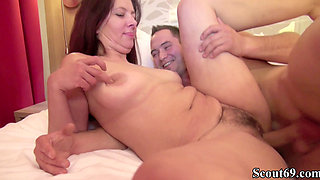 German MILF with Hairy Pussy Seduce Young Boy To Fuck