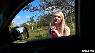 Getting her pussy fucked in the car is what Lily Rader likes the most