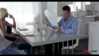 Sneaky mom sucks and fucks son in front of dad