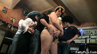 Funny party with horny guys and fat chicks