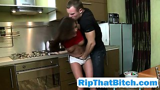 Cosette Ibarra Roughly Banged On Kitchen Table