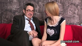 Ideal schoolgirl is tempted and nailed by her older teacher7