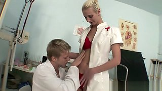 Steamy nurse treats her patient