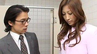 Amazing Japanese girl Leila Aisaki in Horny Voyeur, Handjobs JAV movie