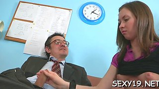 Blowjob for a horny teacher