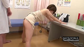 asian babe gets fucked by the doctor hd. jav
