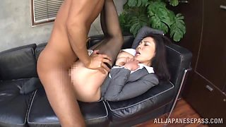 Japanese office hottie gets her vag pounded everu which way